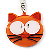 Plastic Funky Cat Key Ring/Handbag Charms (Brown)