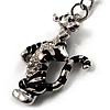 Funky Tiger Keyring  (Silver&amp;Black)
