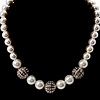 Silver Bead Glass Pearl Necklace