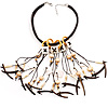 Romantic Multi Cord Wood Nugget &amp; Chips &amp; Beads Fashion Necklace