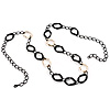 Long Black Large Twisted Oval Link Fashion Necklace