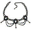 Peacock Victorian Beaded Choker