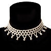 Bridal Charm Beaded Flex Choker (Ivory)