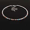 Thin Austrian Crystal Choker Necklace (Multicoloured)