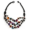 3 Strand Multicoloured Shell &amp; Bead Necklace