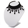 Black Charm Acrylic Bead Flex Choker