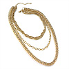 Chic Gold Tone Multi Strand Chain Necklace - 64cm Length