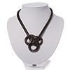 Gun Metal Mesh Knot Choker Necklace