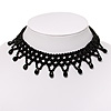 Black Acrylic Bead Flex Fancy Dress Party Choker