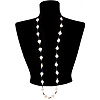 White Heart Shell &amp; Bead Long Necklace - 100cm Length