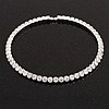 Silver Plated Clear Swarovski Flex Choker Necklace