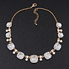 &#039;Gorgeous Rocks&#039; Crystal Choker Necklace In Gold Plating - 34cm Length/ 6cm Extension