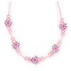 Children's Pink 'Heart' Necklace - 36cm Length/ 4cm Extension