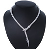 Silver Tone 'Snake' Necklace - 43cm Length