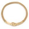 Stylish Gold Plated Belt Mesh Choker Necklace - 38cm L