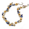 Summer Cluster Ceramic Bead/ Sea Shell Nugget Necklace - 41cm L/ 4cm Ext