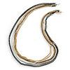 Long Multistrand Chain Necklace (Gold/ Gun/ Silver Tone) - 96cm L