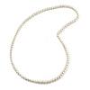 8mm Light Cream Glass Bead Necklace - 76cm L
