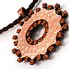 Hammered Copper Disk Fashion Pendant