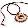 Hammered Copper Disk Fashion Pendant