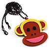 Funky Monkey Brown Plastic Pendant