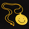 Yellow Plastic Smiling Face Pendant (Yellow)