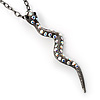 Black Tone Crystal Snake Pendant