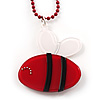 Red Plastic Bee Pendant