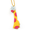 Tall Yellow Plastic Giraffe Pendant