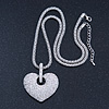 Rhodium Plated Swarovski Crystal &#039;Queen of Hearts&#039; Pendant on Long Lantern Chain - 70cm (6cm Extension)