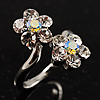 Clear Crystal Flower Ring