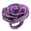 Purple Chunky Resin Rose Ring