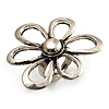 Burn Silver Daisy Ring