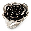 Burn Silver 'Rosebud' Ring