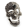 Dazzling Crystal Skull Cocktail Ring - Adjustable