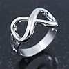 Rhodium Plated 'Infinity' Ring