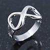 Rhodium Plated 'Infinity' Ring