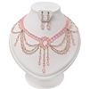 Pale Pink Gothic Costume Choker Necklace And Earring Set