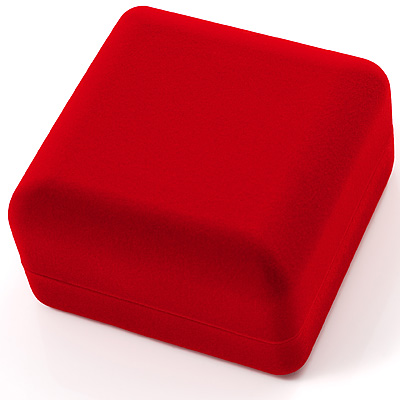 Red Velour Flip Top Bracelet  Box