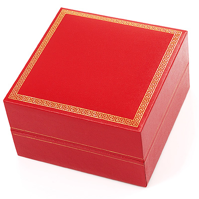 Luxury Red Bracelet / Bangle Jewellery Box - main view