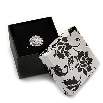 Black/White Card Ring Box