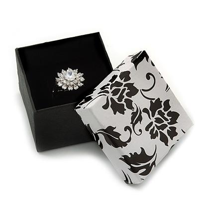 Black/White Card Ring Box - main view