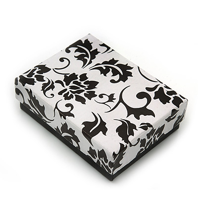Black/White Card Pendant/Brooch/Earrings Box
