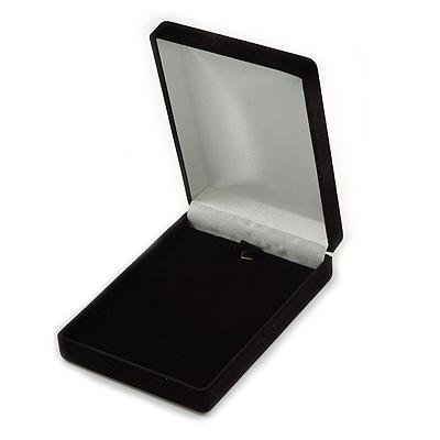Luxury Black Velour Brooch/ Pendant/ Earring/ Hair Accessories Jewellery Box