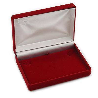 Luxury Burgundy Velour Brooch/ Pendant/ Earring/ Comb Jewellery Box