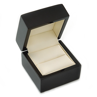 Luxury Wooden Black Ring Box