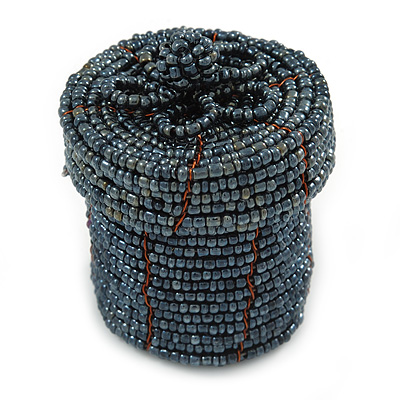 Ring/ Pendant/ Earrings Hematite Glass Bead Handmade Box