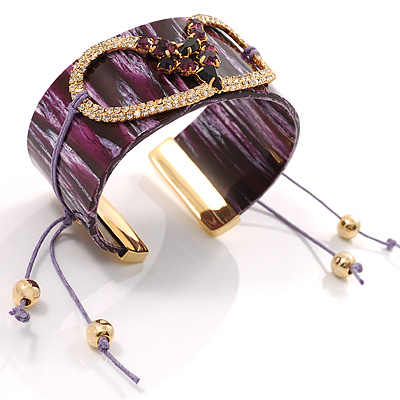 Splash Of Purple Plastic Costume Bangle