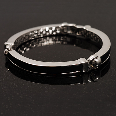 Rhodium Plated Bar Fashion Bangle
