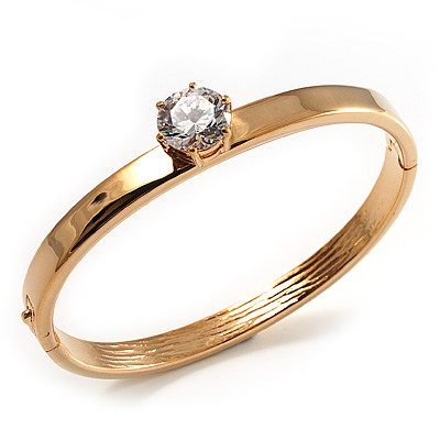 Gold Plated CZ Bangle Bracelet